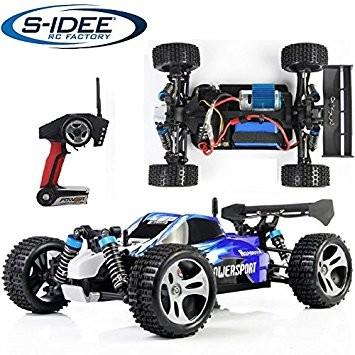 s-idee® 18105 A959 RC Auto Buggy Monstertruck 1:18 mit 2,4 GHz 50 km/h schnell, wendig, voll digital